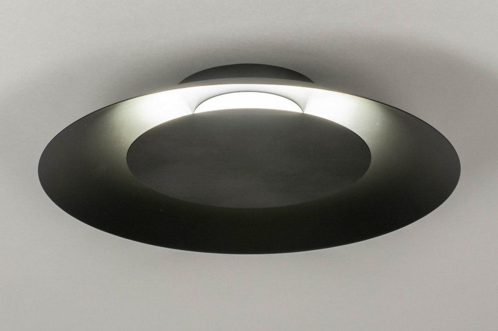 Plafondlamp 12908: modern, metaal, zwart, mat #0