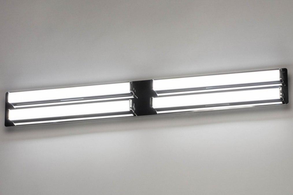 Wandlamp 12948: modern, metaal, chroom, langwerpig #0