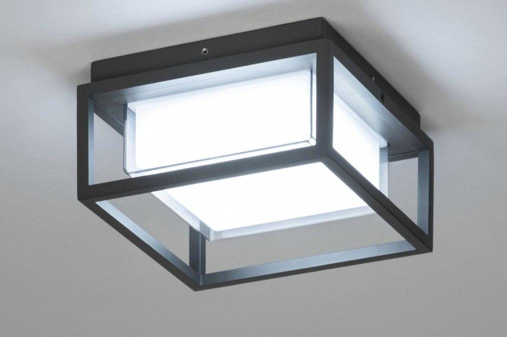 Plafondlamp 12953: modern, aluminium, kunststof, polycarbonaat slagvast #0