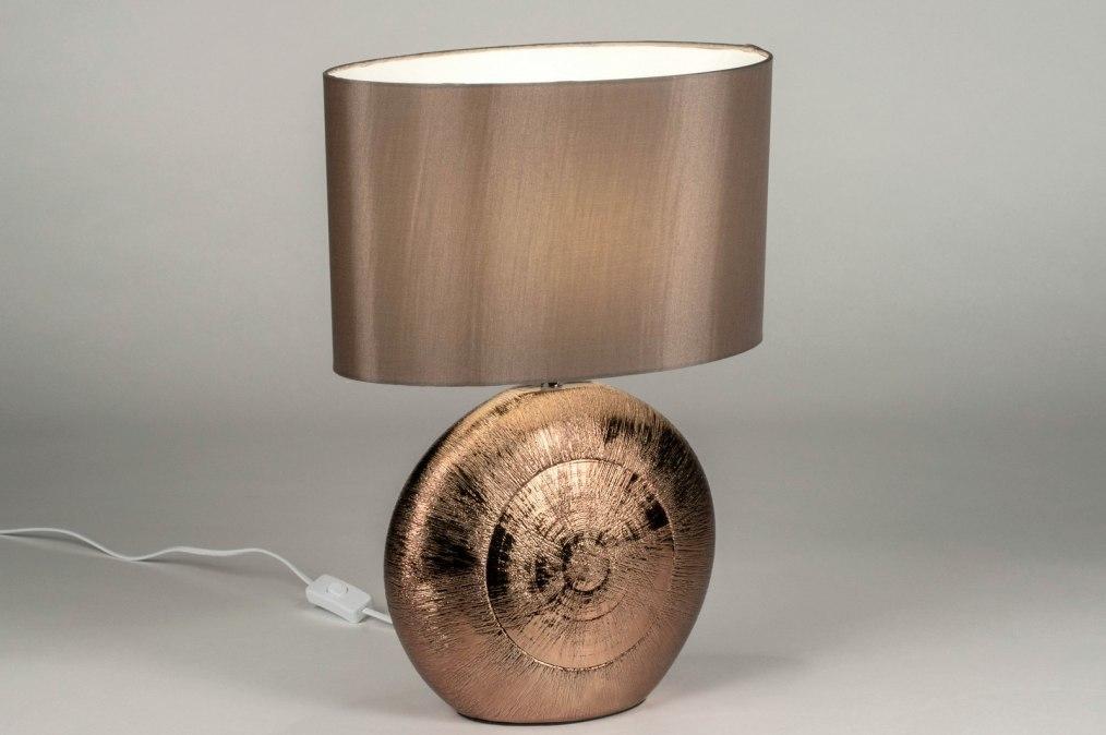 Tafellamp 12959: modern, klassiek, eigentijds klassiek, stof #0