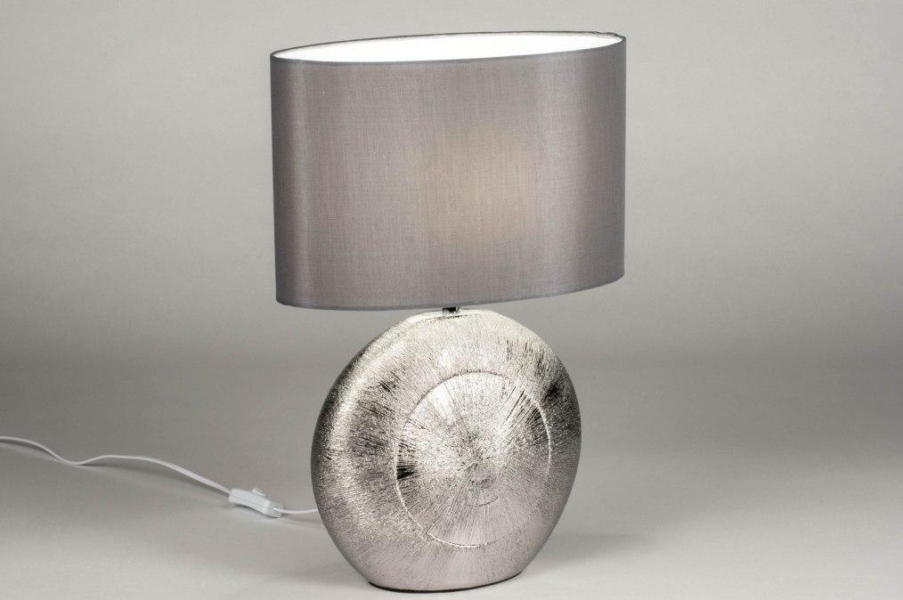 Tafellamp 12960: modern, eigentijds klassiek, stof, keramiek #0