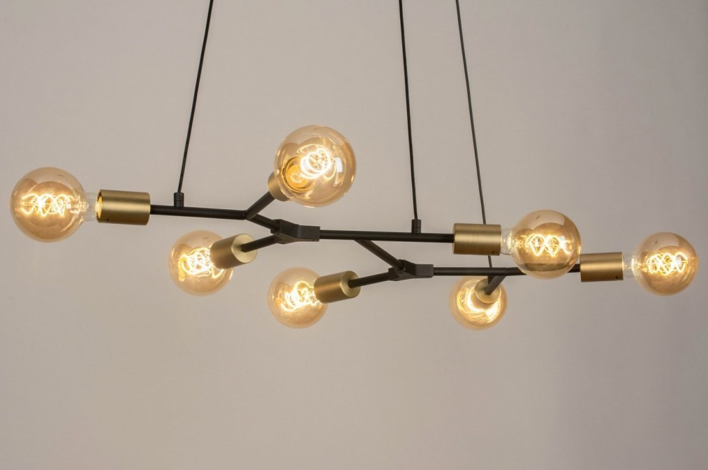 Hanglamp 12977: modern, art deco, metaal, zwart #0