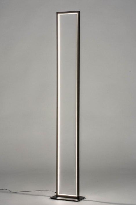 Vloerlamp 12989: modern, metaal, zwart, mat #0