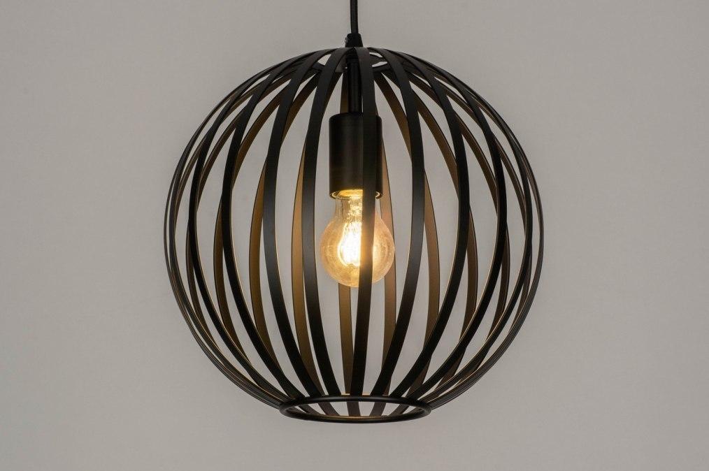 Hanglamp 12998: modern, metaal, zwart, mat #0
