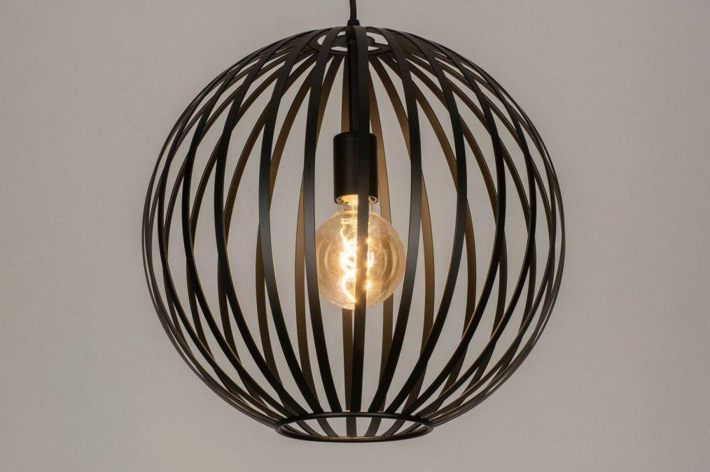 Hanglamp 12999: modern, metaal, zwart, mat #0