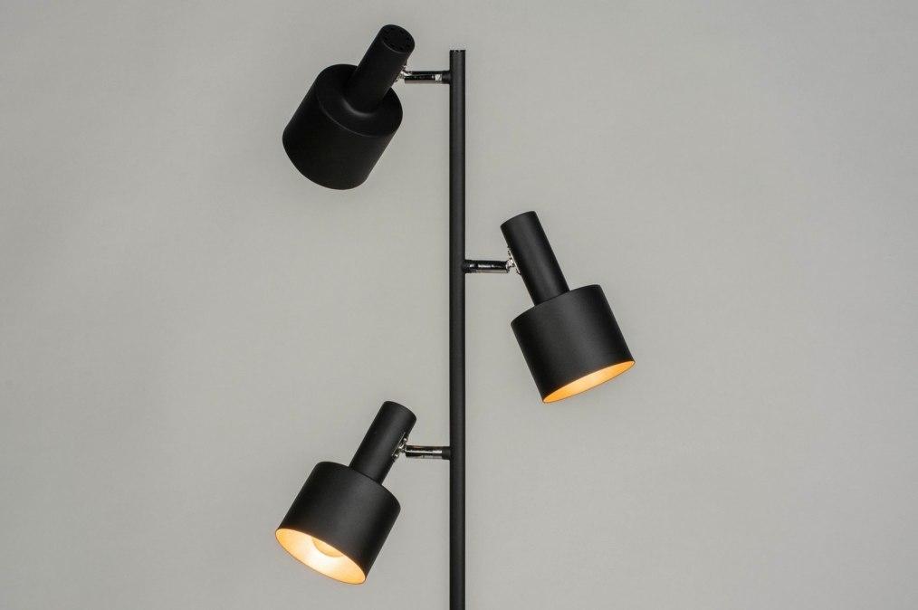 Vloerlamp 13018: modern, retro, metaal, zwart #0