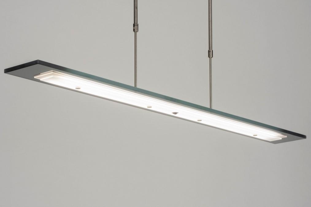 Hanglamp 13023: design, modern, glas, staal rvs #0