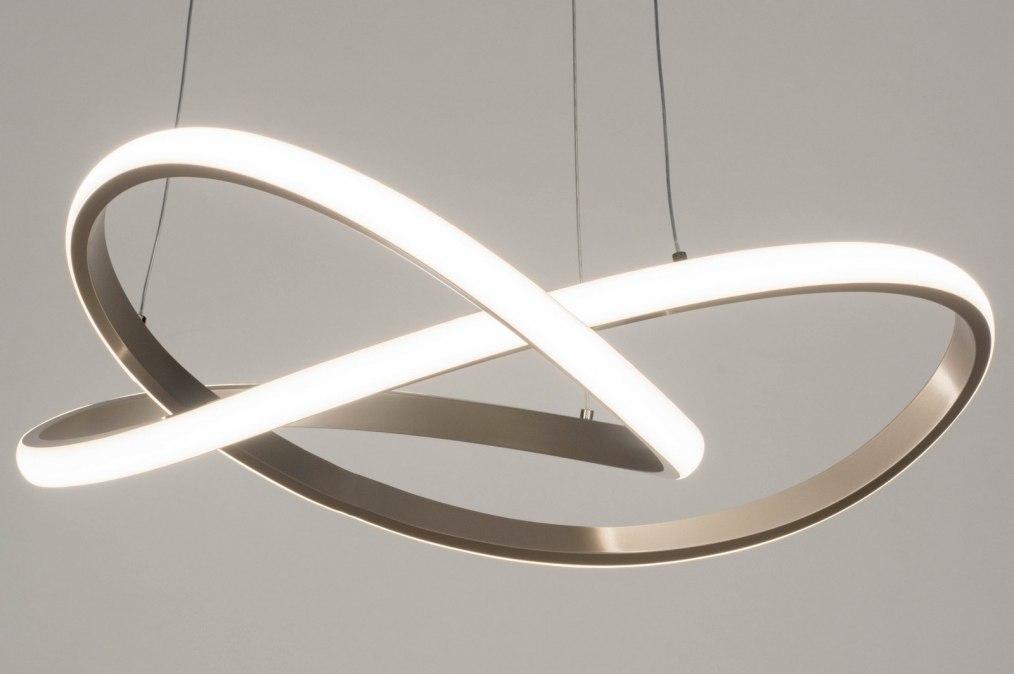 Hanglamp 13030: design, modern, staal rvs, metaal #0