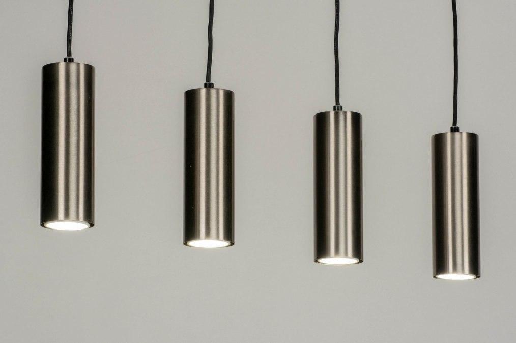 Hanglamp 13033: modern, staal rvs, metaal, staalgrijs #0
