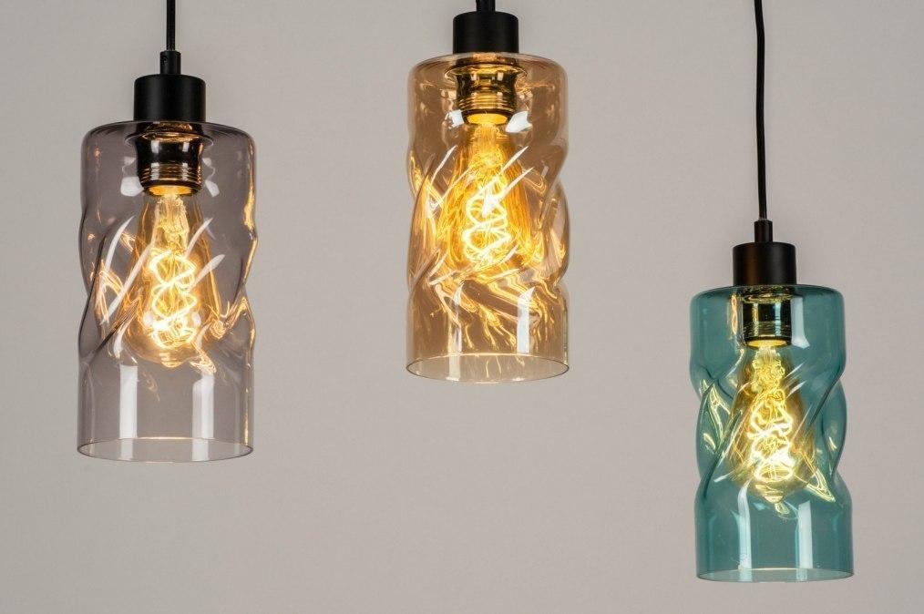 Hanglamp 13034: modern, retro, glas, metaal #0