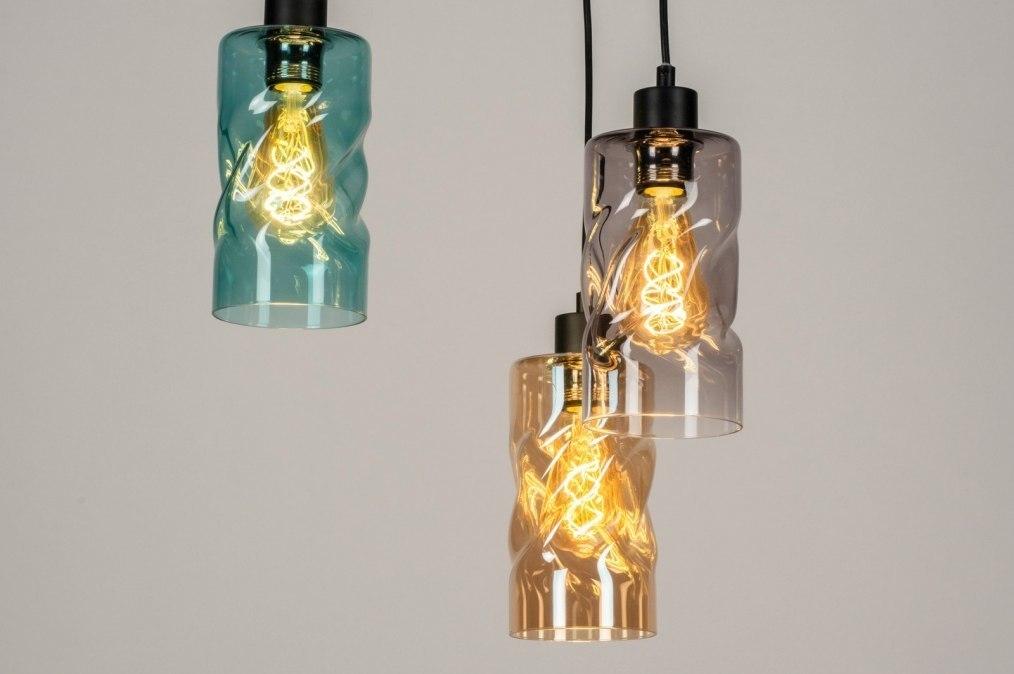Hanglamp 13035: modern, retro, glas, zwart #0