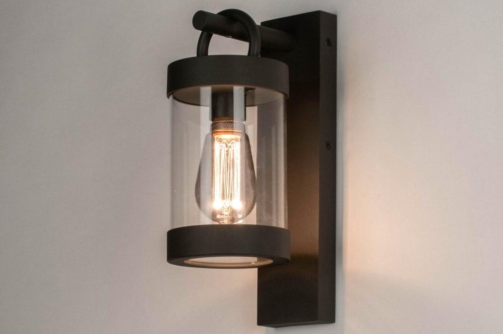 Wandlamp 13043: modern, glas, helder glas, aluminium #0