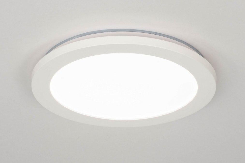 Plafondlamp 13090: modern, kunststof, wit, mat #0