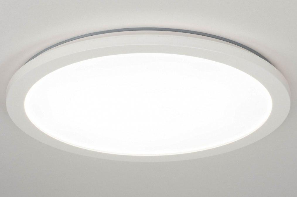 Plafondlamp 13091: modern, kunststof, wit, rond #0