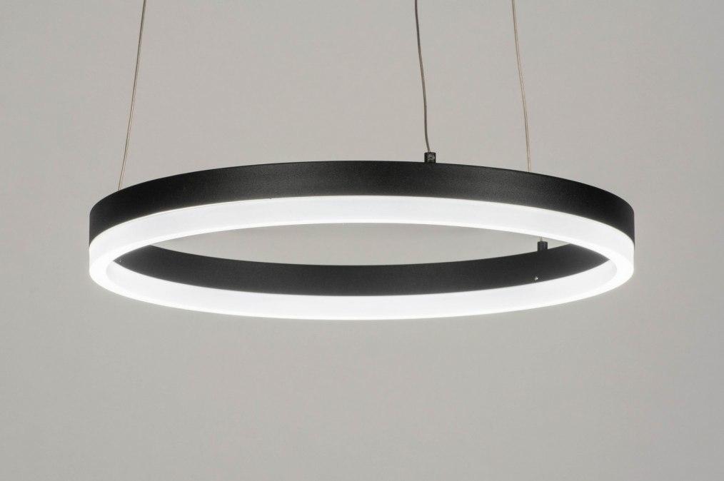 Hanglamp 13096: modern, aluminium, metaal, zwart #0