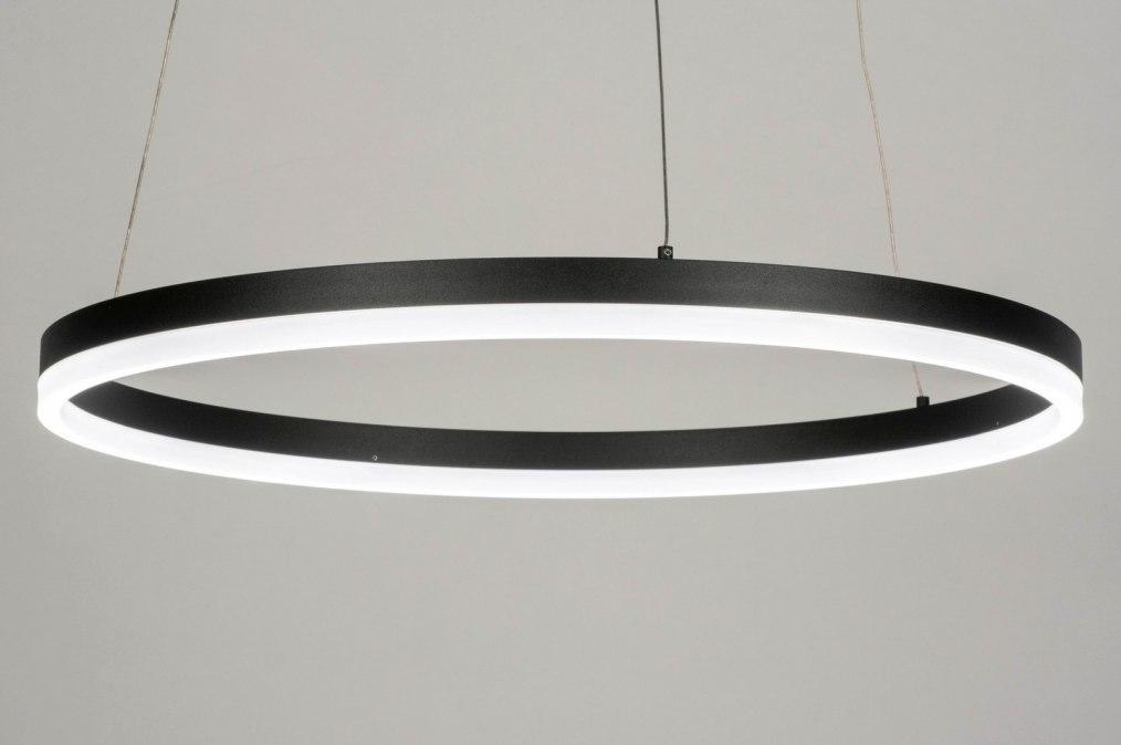 Hanglamp 13097: modern, aluminium, metaal, zwart #0