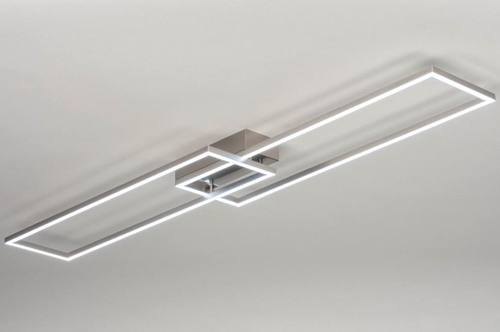 Plafondlamp 13101: modern, aluminium, geschuurd aluminium, metaal #0