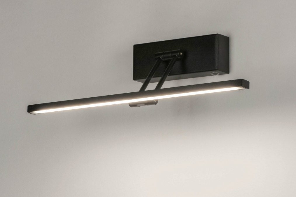 Wandlamp 13148: modern, metaal, zwart, mat #0