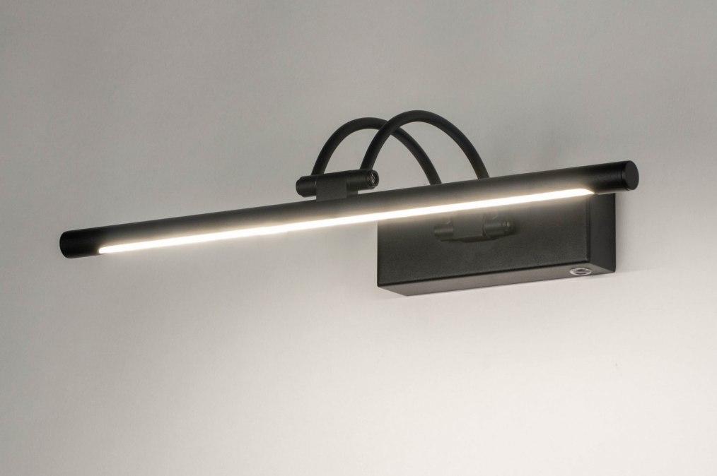 Wandlamp 13150: modern, metaal, zwart, mat #0