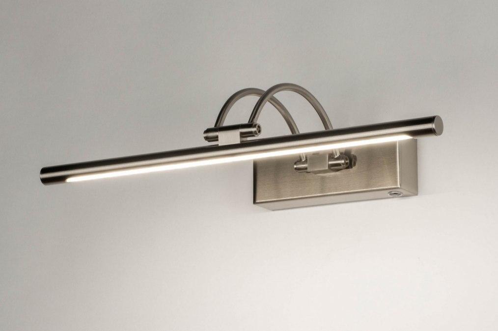 Wandleuchte 13151: modern, Edelstahl, Metall, stahlgrau #0