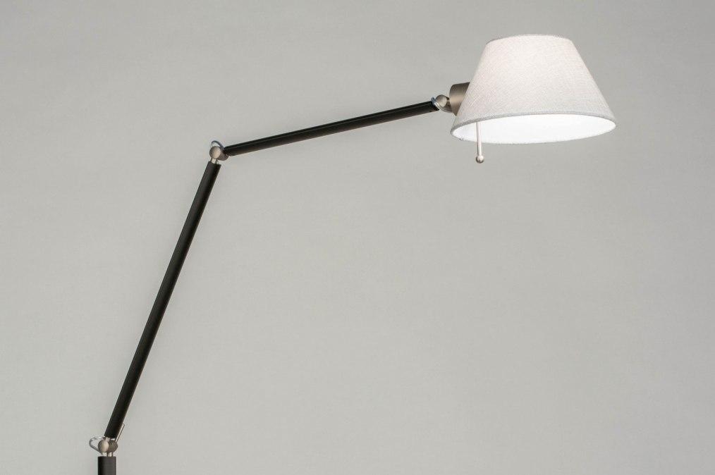 Vloerlamp 13154: modern, stof, metaal, zwart #0