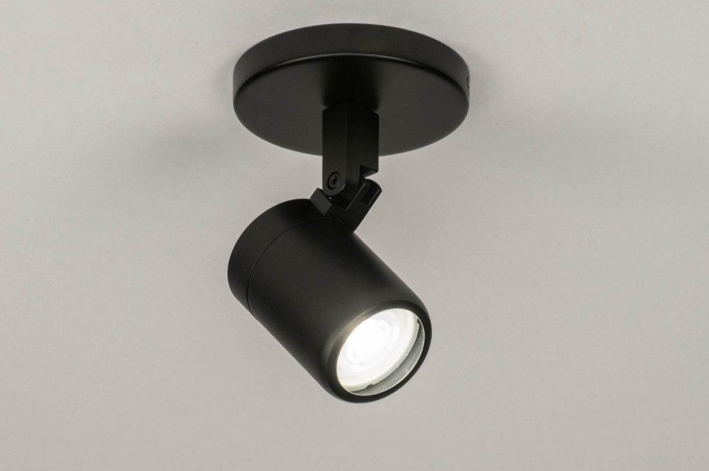 Spot 13158: modern, metaal, zwart, mat #0
