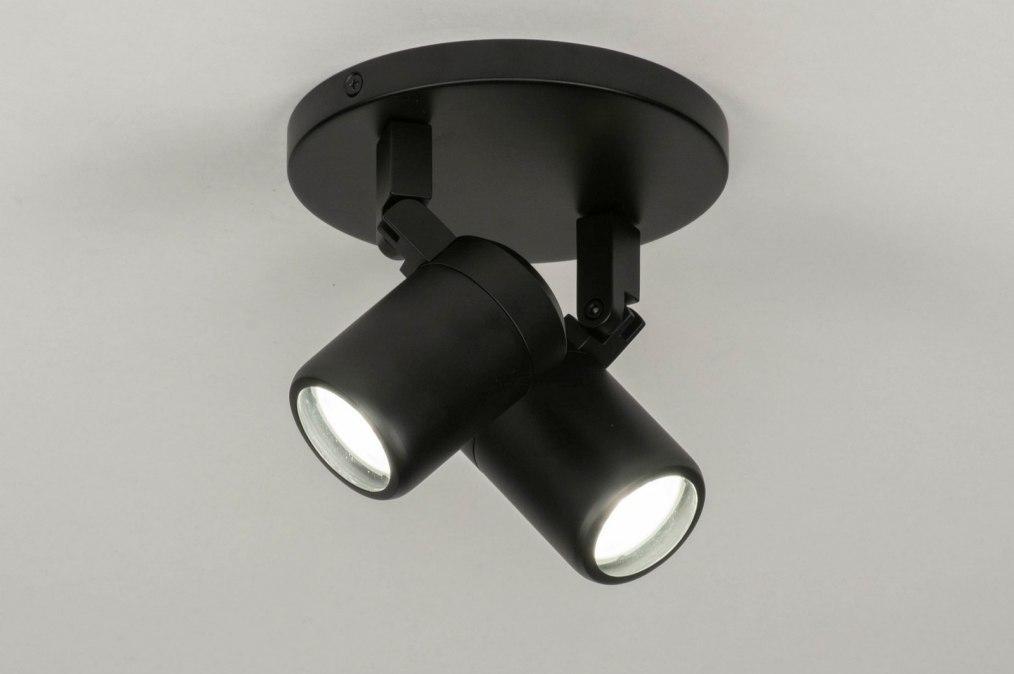Plafondlamp 13159: modern, metaal, zwart, mat #0