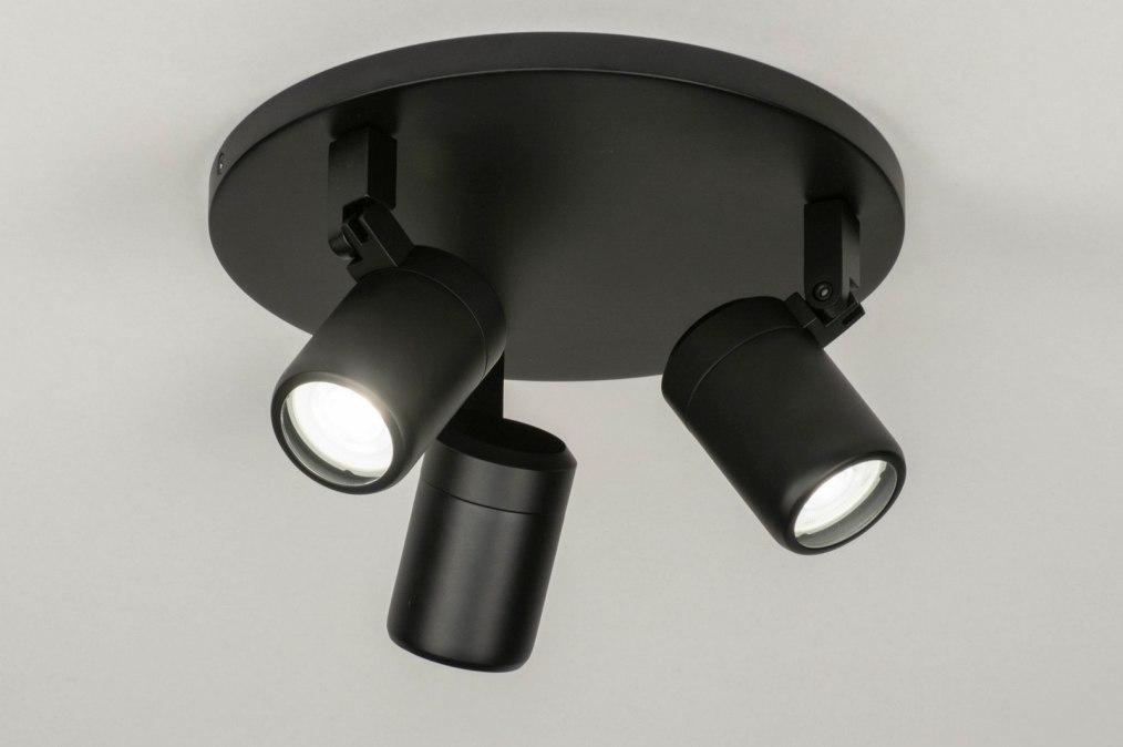 Spot 13160: modern, metaal, zwart, mat #0