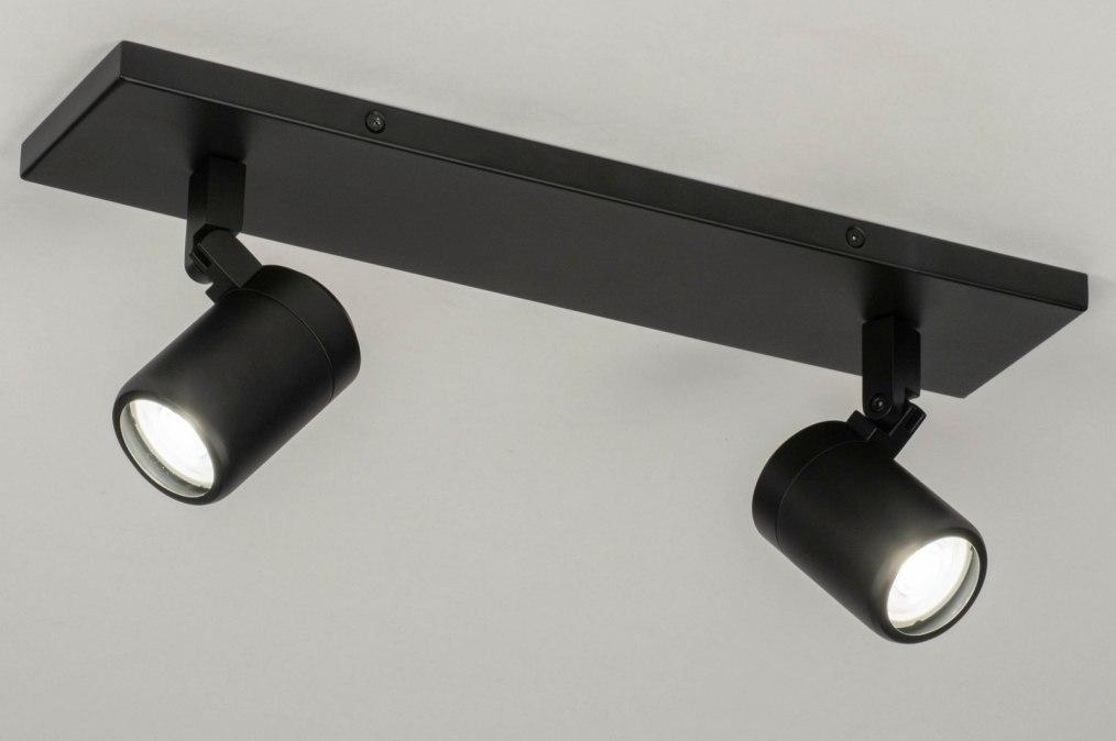 Spot 13161: modern, metaal, zwart, mat #0