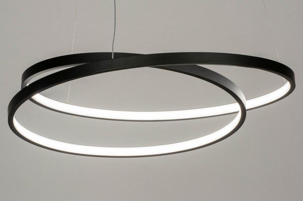 Hanglamp 13191: modern, metaal, zwart, mat #0