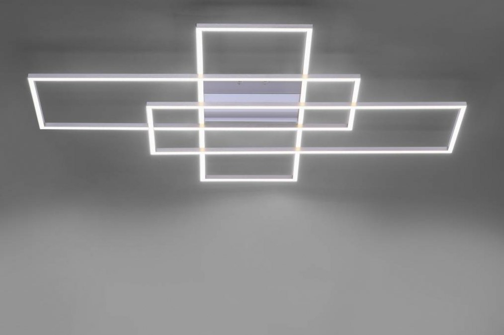 Plafondlamp 13196: design, modern, staal rvs, metaal #0