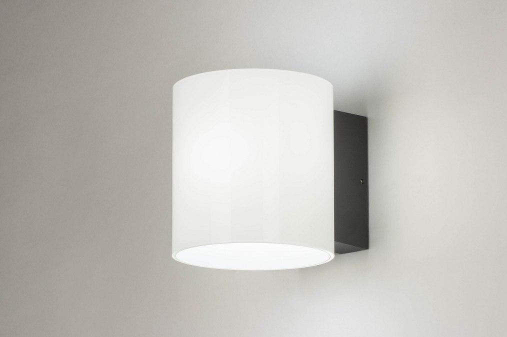 Wandlamp 13236: sale, modern, glas, wit opaalglas #0