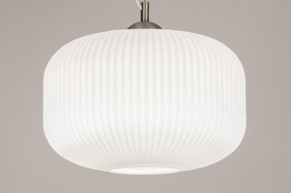 Hanglamp 13242: modern, retro, glas, wit opaalglas #0
