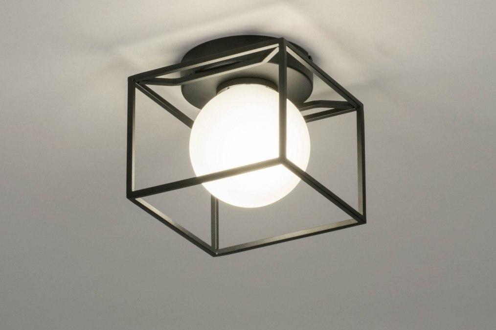 Deckenleuchte 13243: Industrielook, modern, Glas, mit Opalglas #0