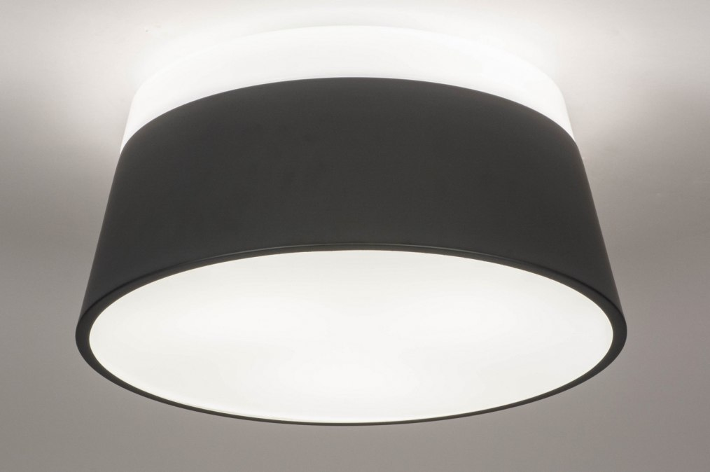 Plafondlamp 13252: modern, kunststof, metaal, wit #0