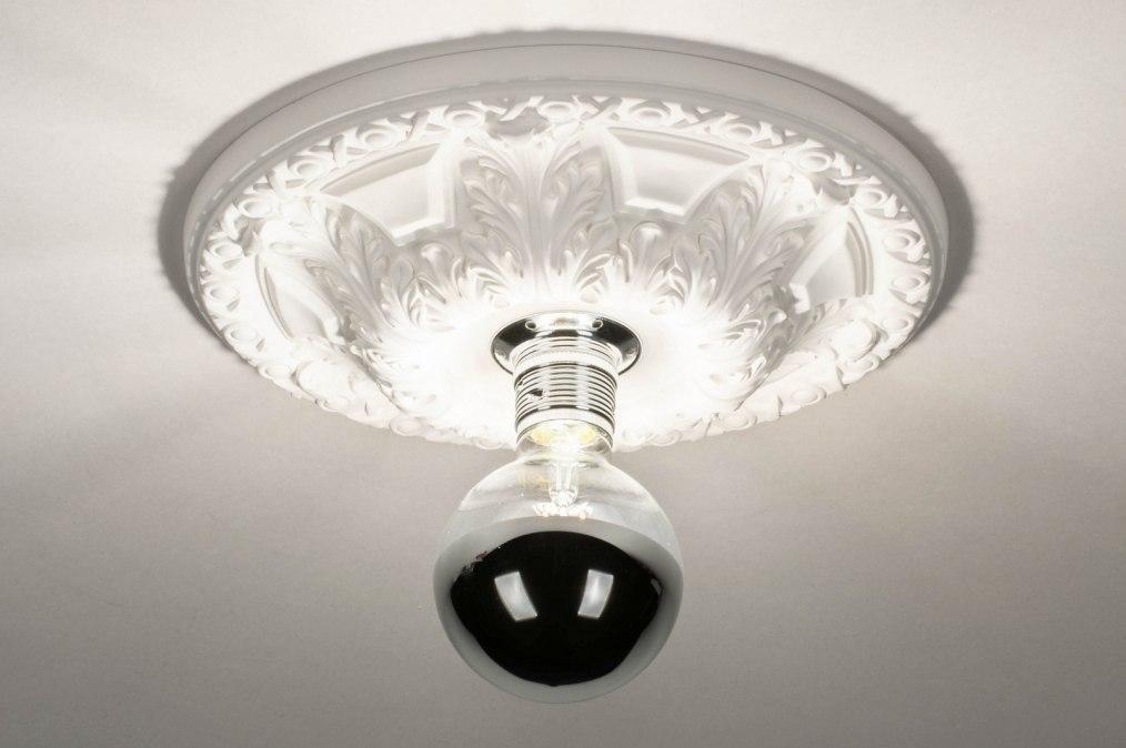 Plafondlamp 13254: modern, klassiek, eigentijds klassiek, keramiek #0