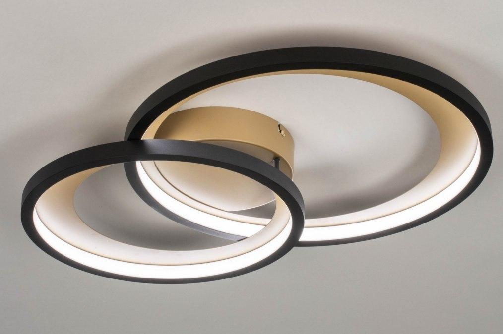 Plafondlamp 13264: modern, retro, metaal, zwart #0