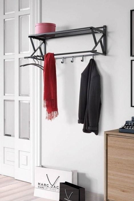 Garderobe 13299: Sale, laendlich rustikal, Metall, grau #0