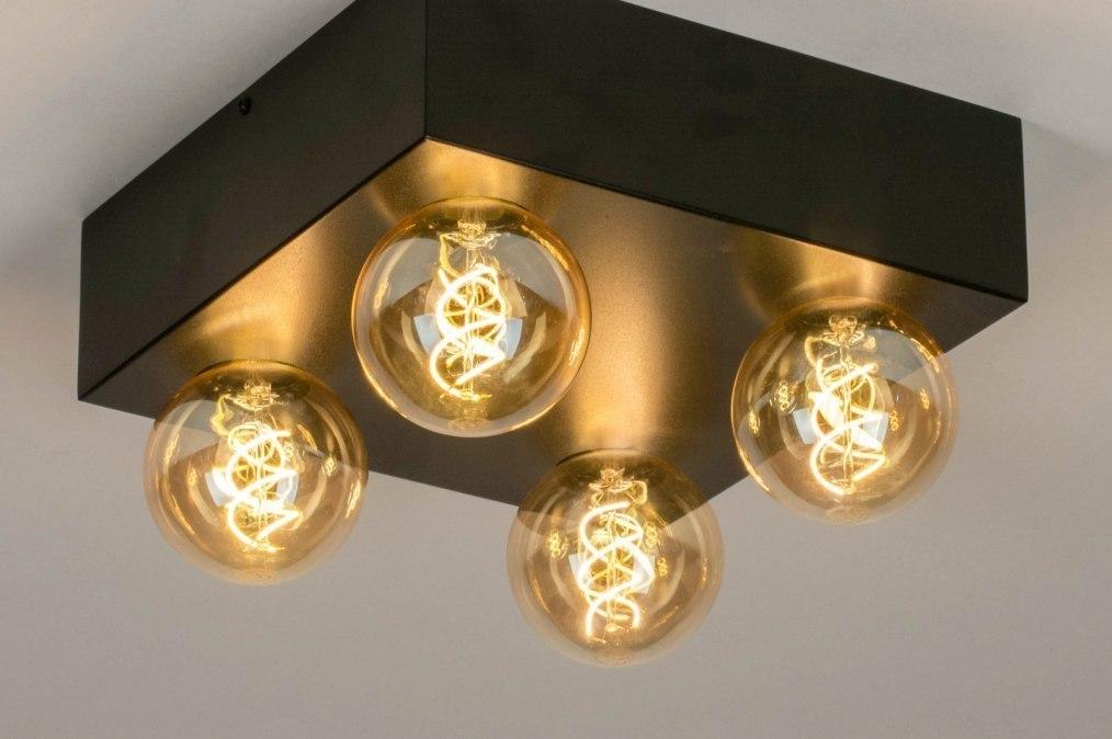 Plafondlamp 13319: industrie, look, modern, retro #0