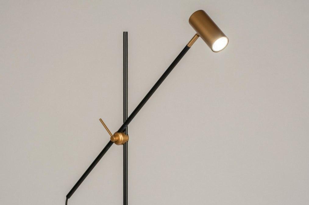Vloerlamp 13322: modern, eigentijds klassiek, art deco, metaal #0