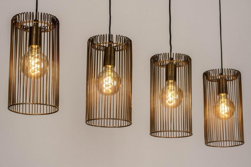 Hanglamp 13382: modern, eigentijds klassiek, brons, metaal #0