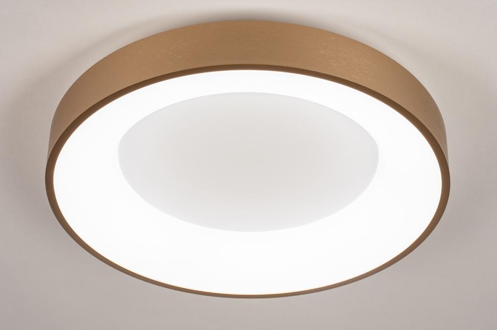 Plafondlamp 13448: modern, eigentijds klassiek, art deco, messing #0
