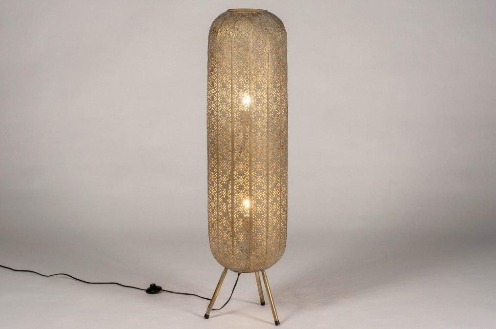 Vloerlamp 13465: modern, eigentijds klassiek, metaal, wit #0