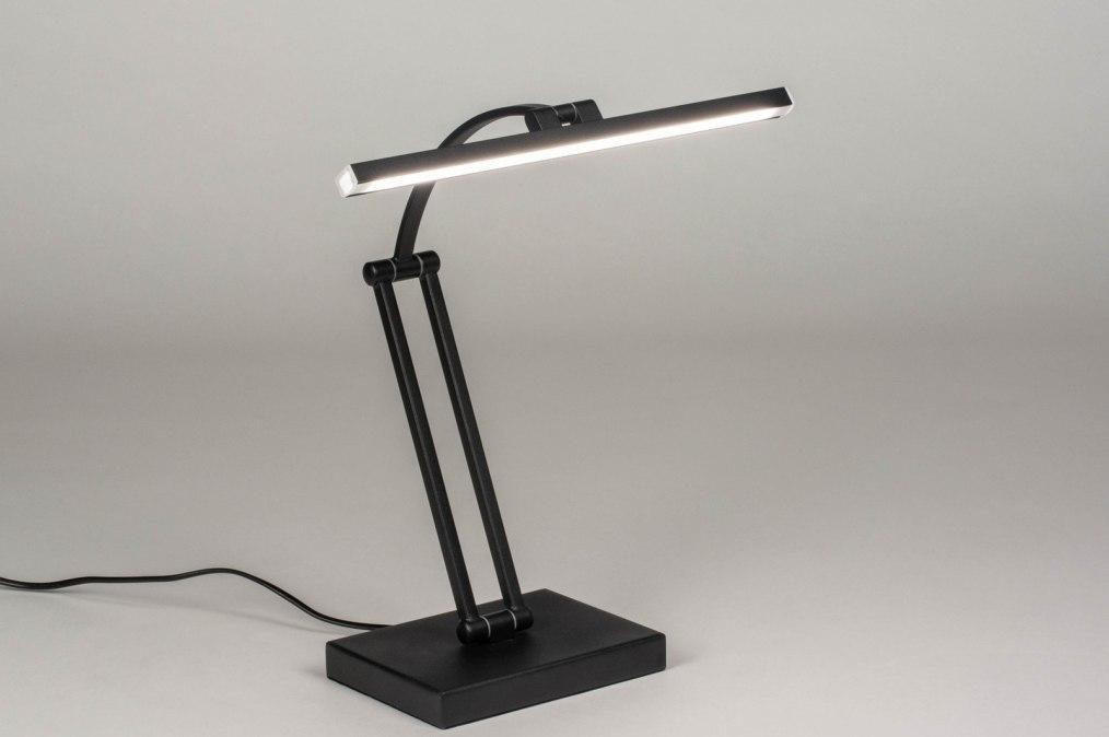 Tafellamp 13468: design, modern, metaal, zwart #0