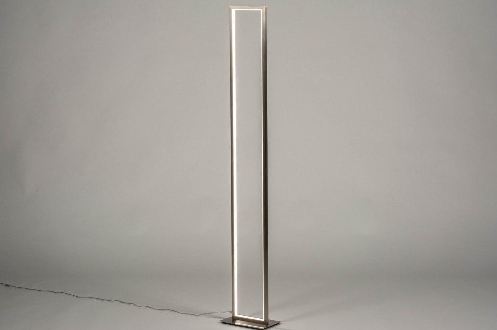 Vloerlamp 13470: design, modern, staal rvs, metaal #0