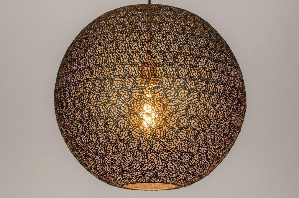 Hanglamp 13471: modern, eigentijds klassiek, metaal, zwart #0