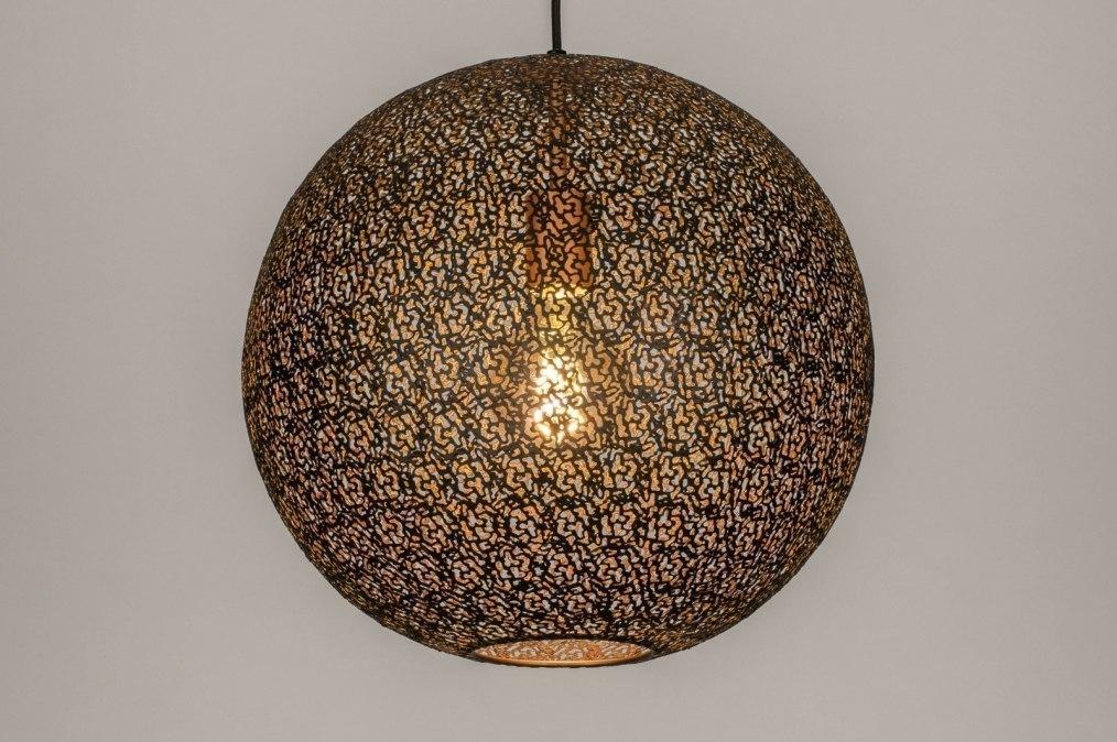 Hanglamp 13472: modern, eigentijds klassiek, metaal, zwart #0