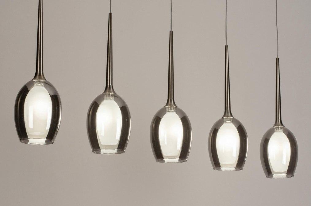 Hanglamp 13514: modern, eigentijds klassiek, glas, wit opaalglas #0