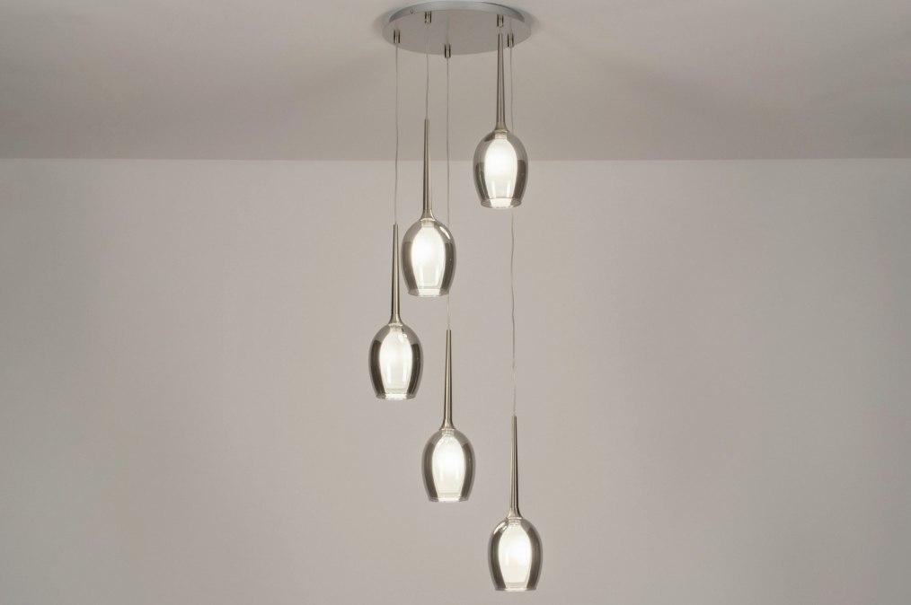Hanglamp 13515: modern, eigentijds klassiek, glas, wit opaalglas #0
