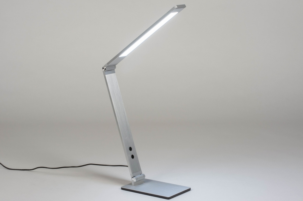 Tafellamp 13530: design, modern, aluminium, geschuurd aluminium #0